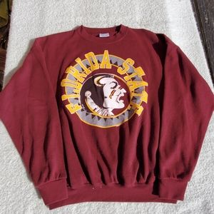 Vtg 90s Florida State University FSU Sweatshirt